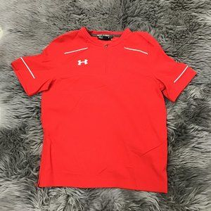 Under Armour Boy's Athletic T-Shirt   Red   XL